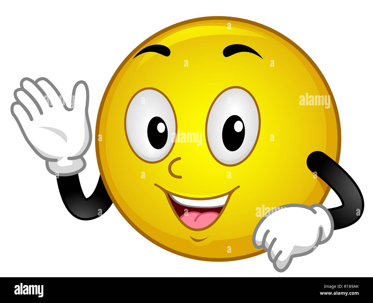 Hände smiley winkende Emoji Bedeutung: