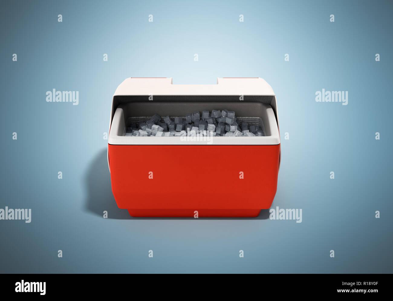 Kühlschrank Box : Kühlschrank box rot d render auf blauem hintergrund geschlossen