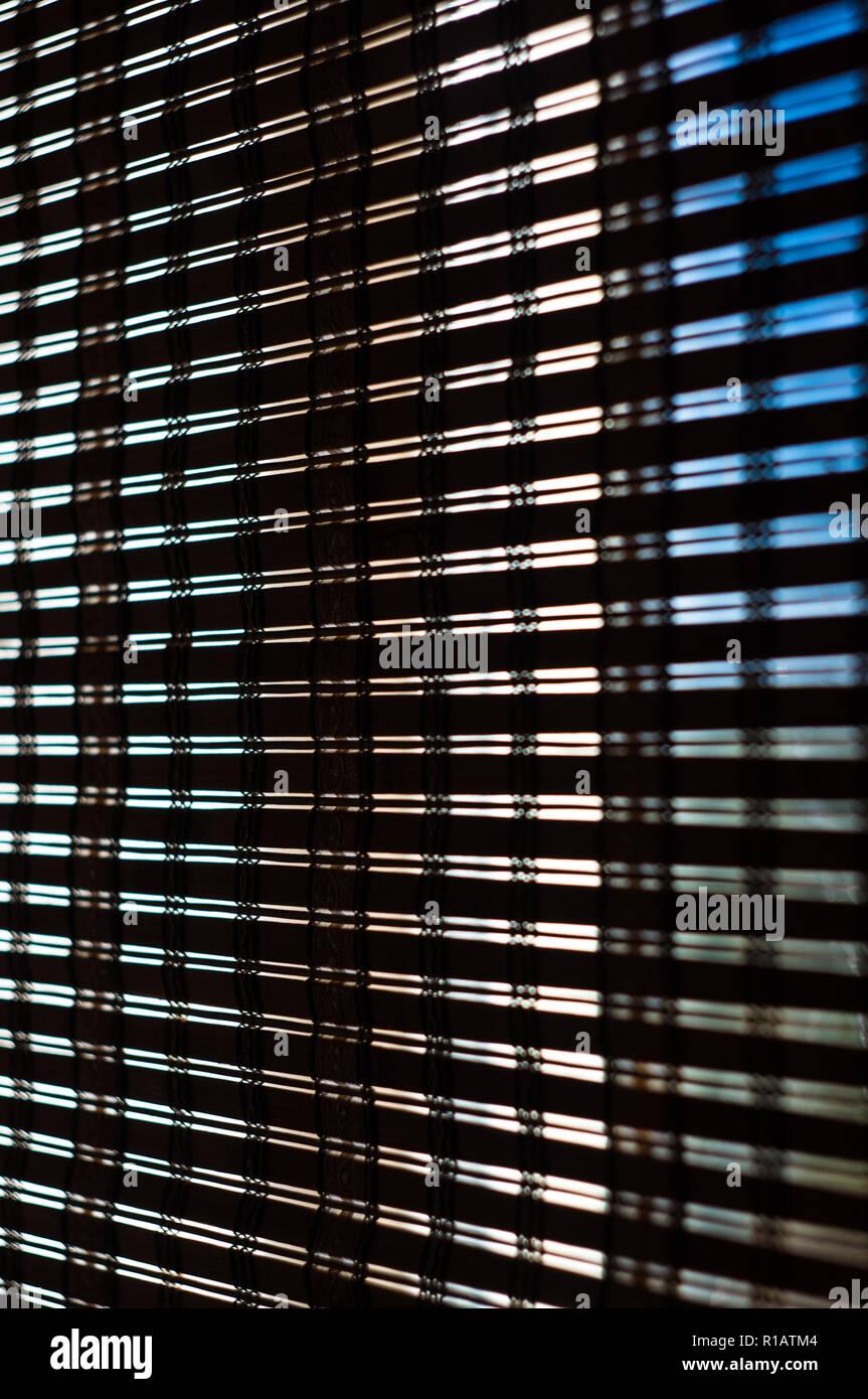 Das Interieur Des Hauses Sonnenlicht Durch Den Bambus Sichtschutz