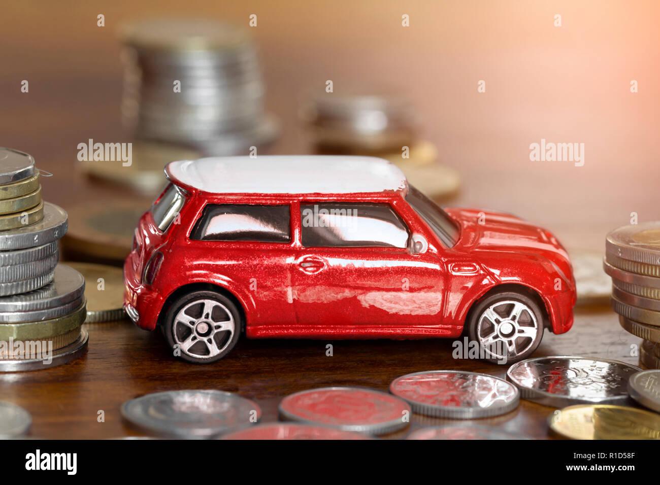 Auto Finanzierung oder Leasing Konzept Stockbild