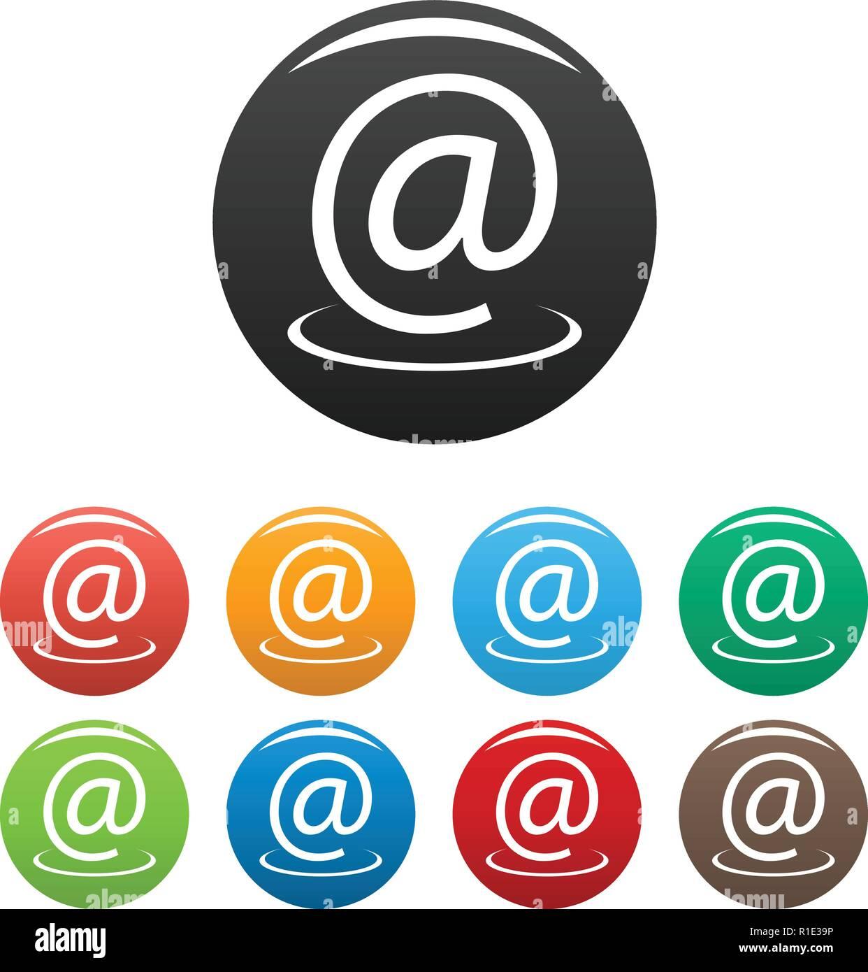 E Mail Adresse Icons Einstellen Vektor Einfache E Mail Adresse