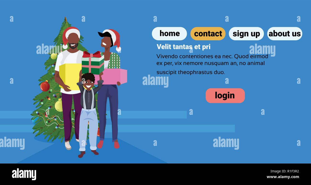 Frohe Weihnachten Familie.Afrikanische Amerikanische Familie Halten Geschenkbox In Der Nähe