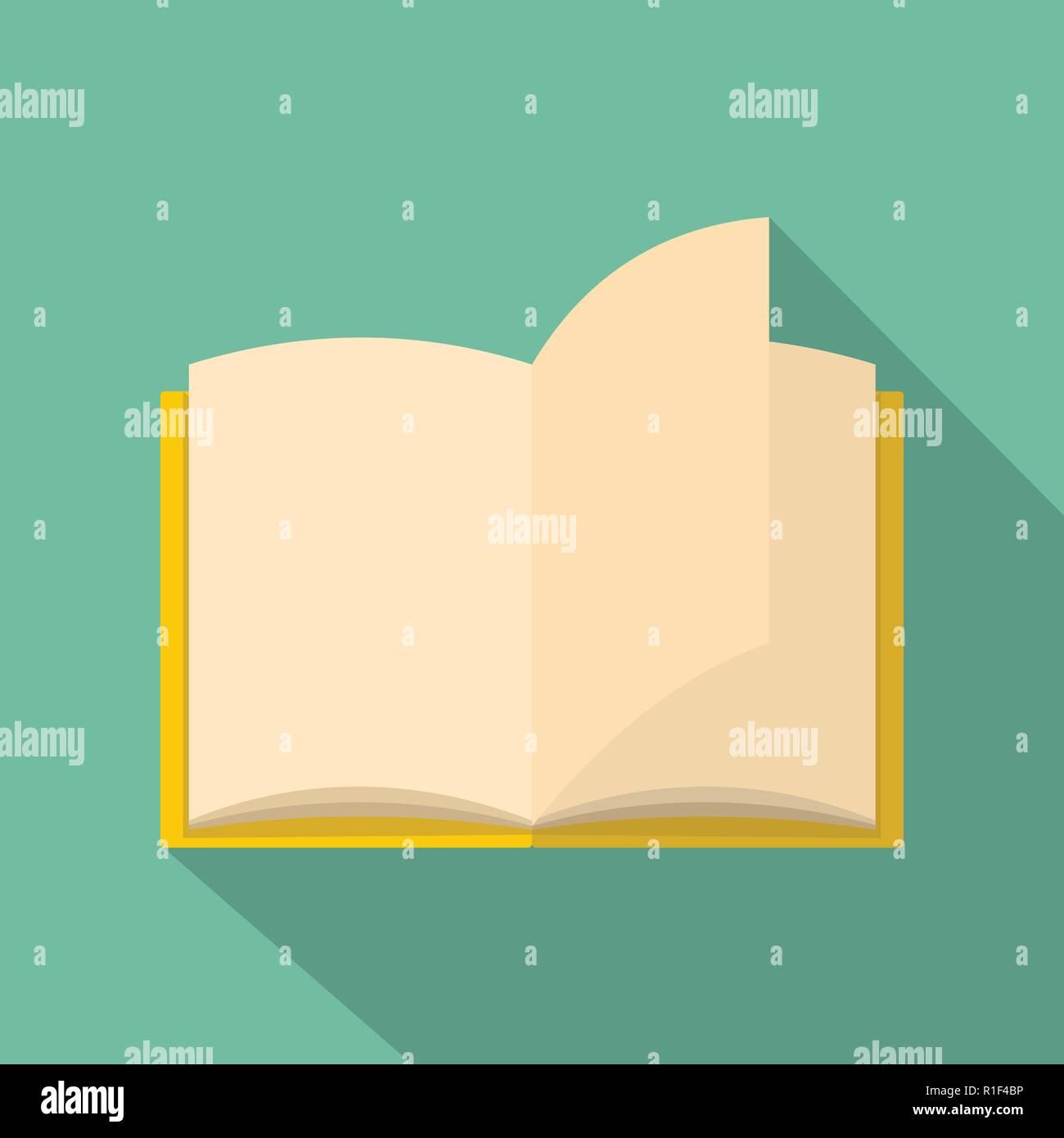 Buch Seite Symbol. Flache Abbildung: Buch Seite vektor Symbol für Web Stockbild