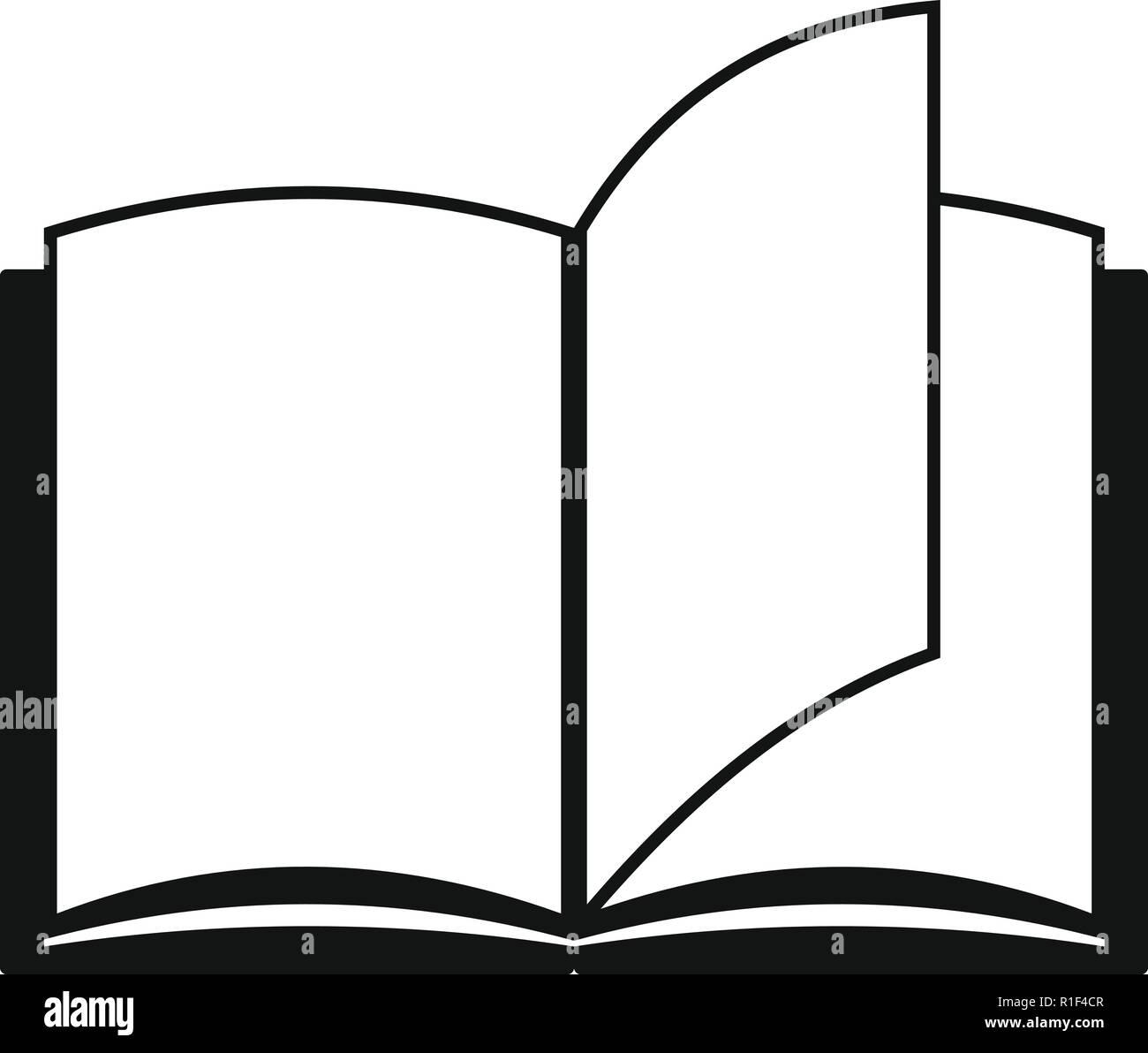 Buch Seite Symbol. Einfache Abbildung: Buch Seite vektor Symbol für Web Stockbild