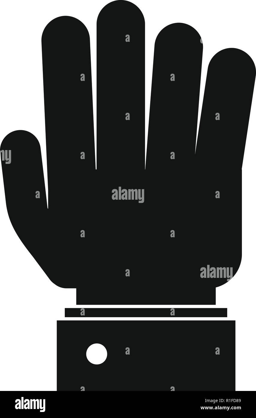 Hand Symbol anhalten. Einfache Abbildung der Hand Vektorbefehl stop Symbol für Web Stock Vektor