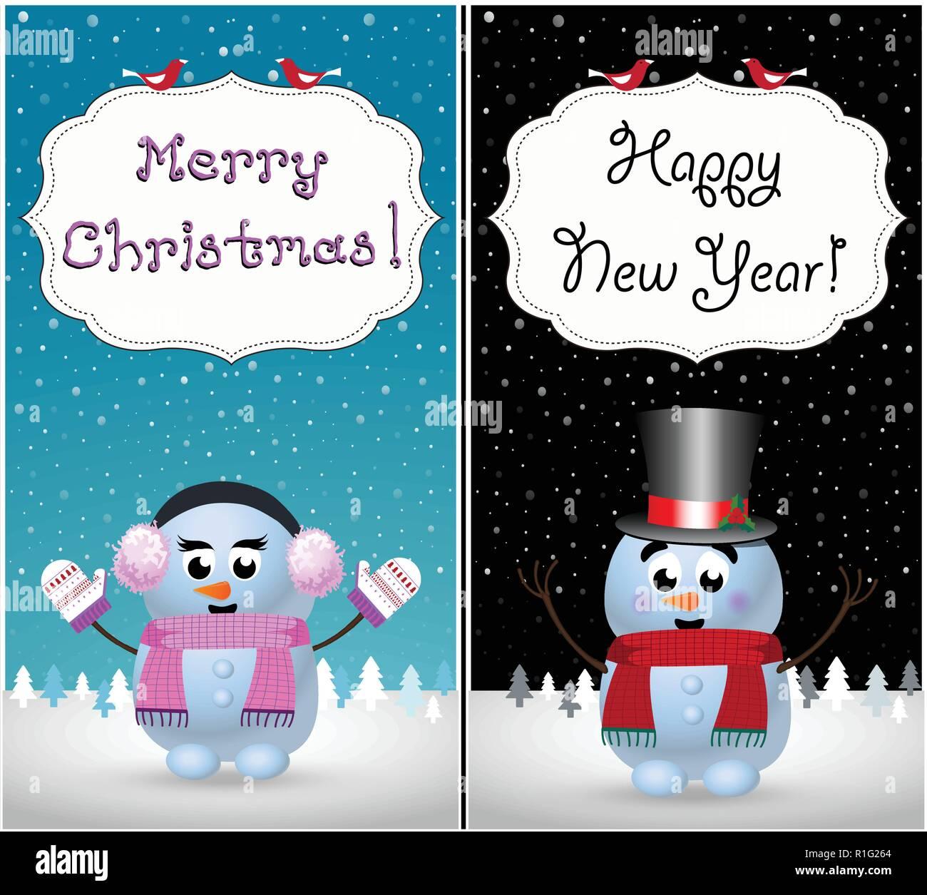 Verschneite Weihnachtskarten Stockfotos & Verschneite ...