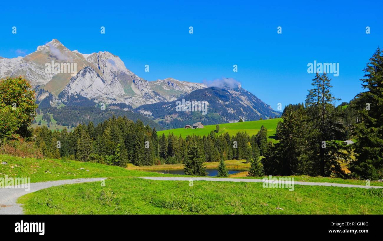 Ferien in der Schweiz Stockbild