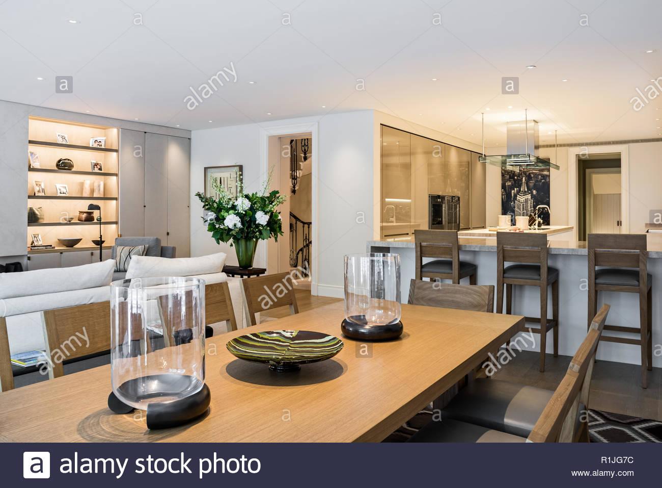 Landhausstil Offenen Wohnbereich Stockfoto Bild 224757328 Alamy