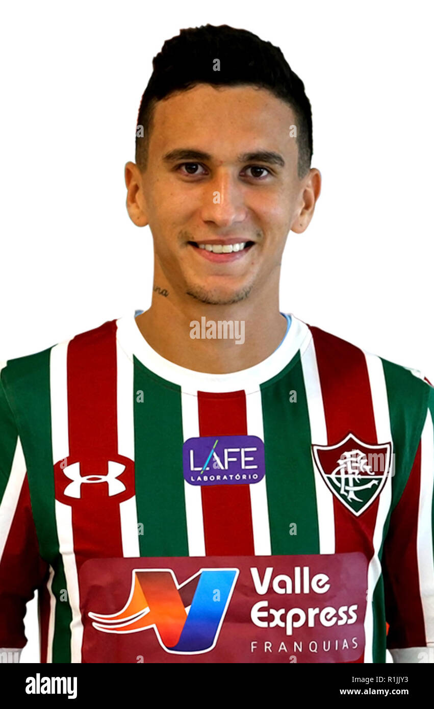 "Brasilianischen Fußball-Liga Serie A 2018/(Fluminense Football Club) - Douglas Moreira Fagundes ""DODI"" Stockbild"