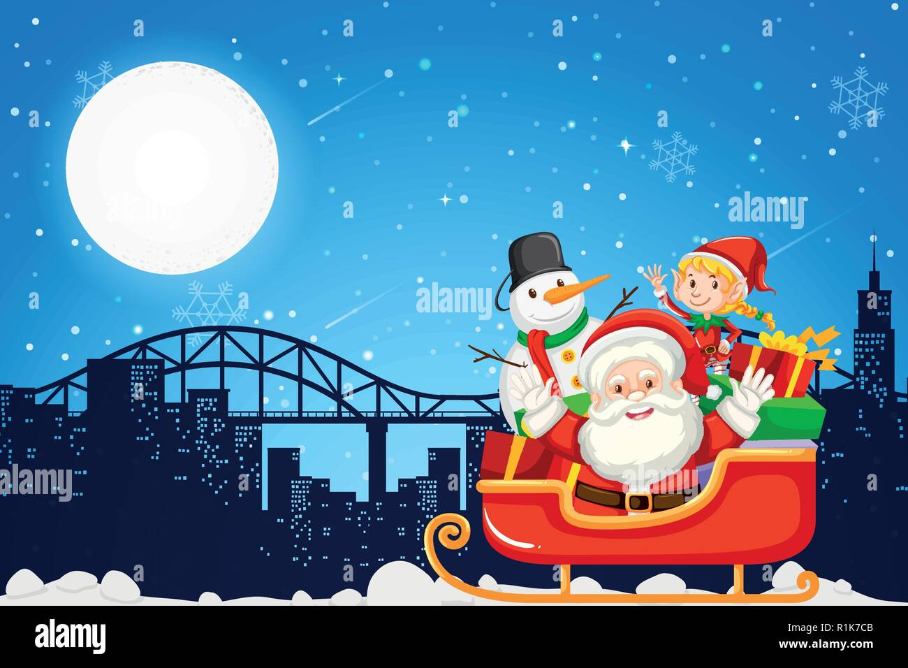 Christmas Town Clip Art Stockfotos & Christmas Town Clip Art Bilder ...