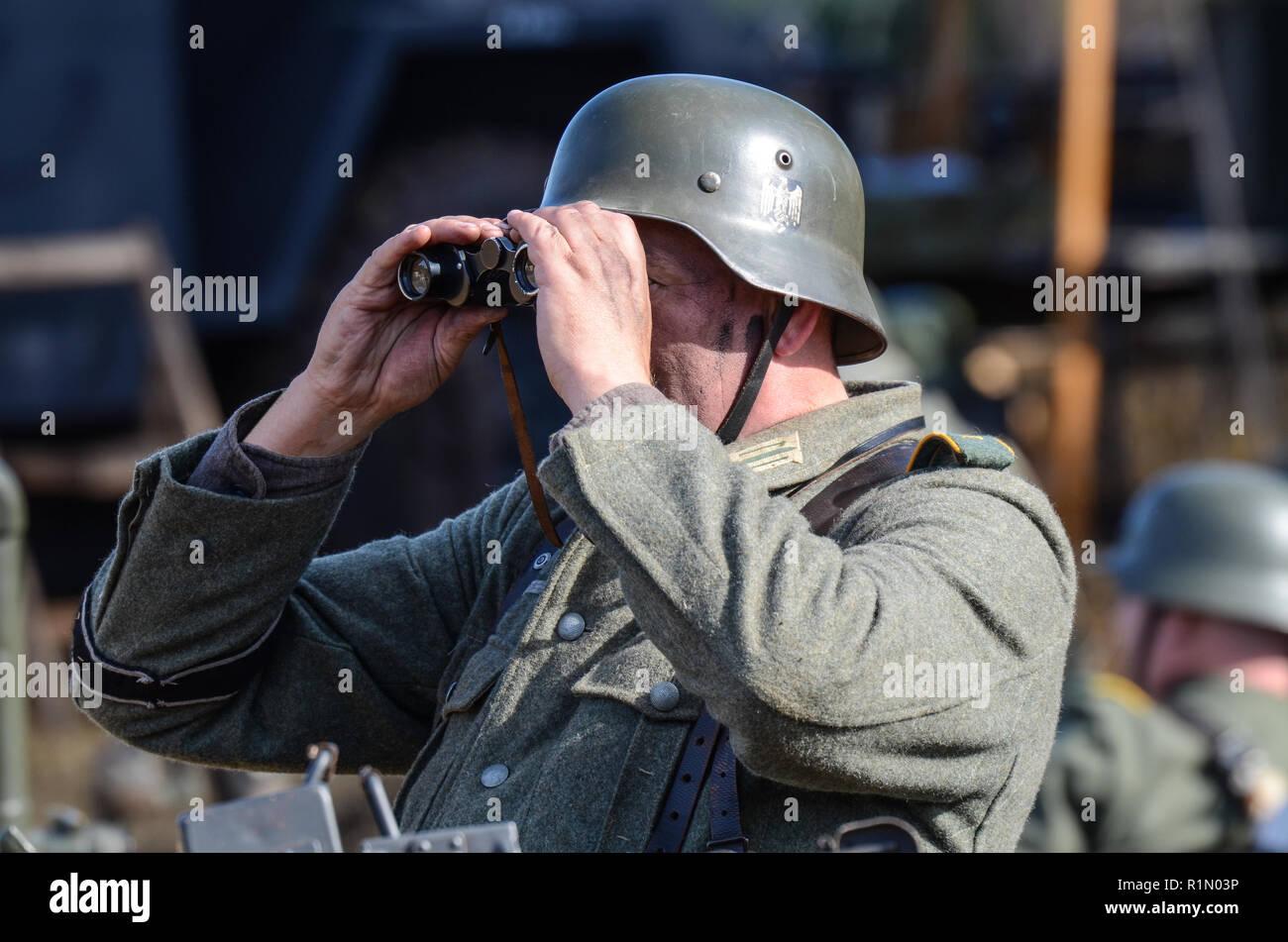 Re enactor re enactment eines zweiten weltkrieg bundeswehrsoldat