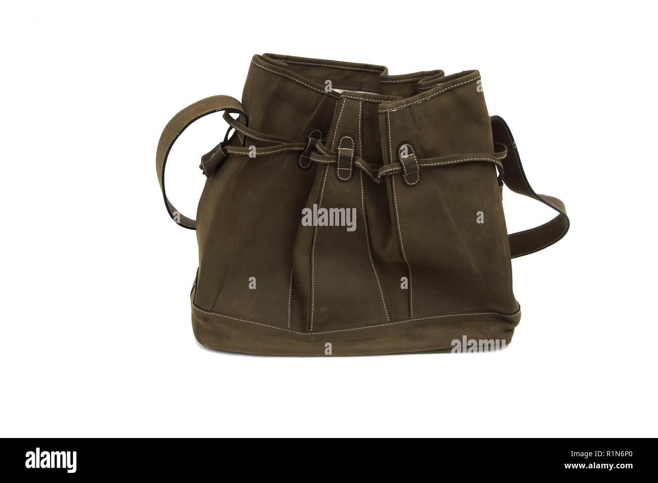 Velours Draw String Handtasche Stockbild