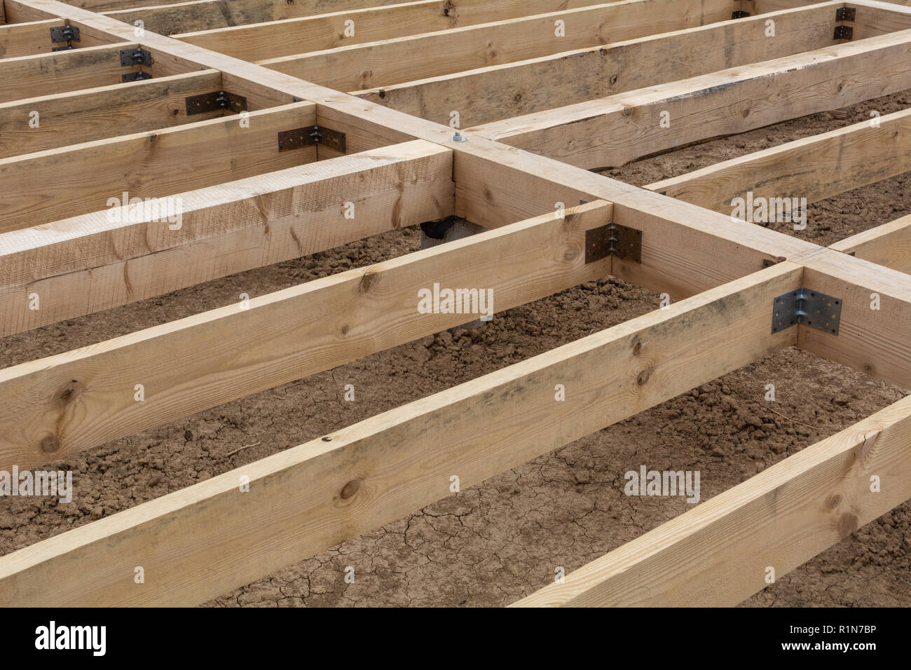 Das Holz für ein Landhaus Stockbild
