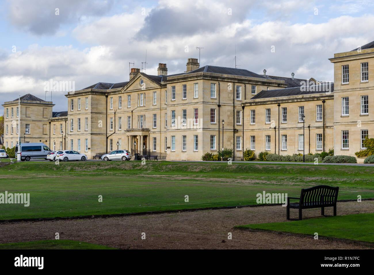 Fassade von St Andrews Hospital, Northampton, UK; einer psychiatrischen Klinik von St Andrews Healthcare. Stockbild