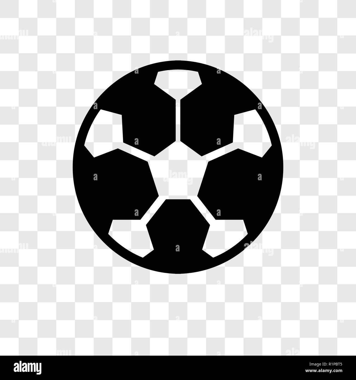 Fussball Vektor Icon Auf Transparentem Hintergrund Isoliert