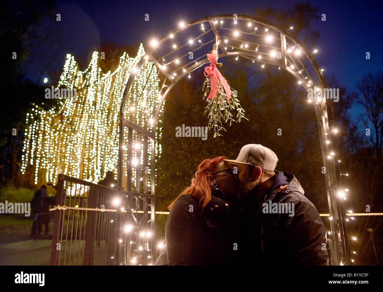 Weihnachten 2019 Berlin.15 November 2018 Berlin Timea Und Sebastian Kiss Unter Einer