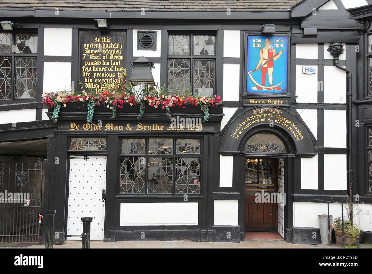Bolton Großbritannien 23 April 2013 Außenansicht Des Ye Olde