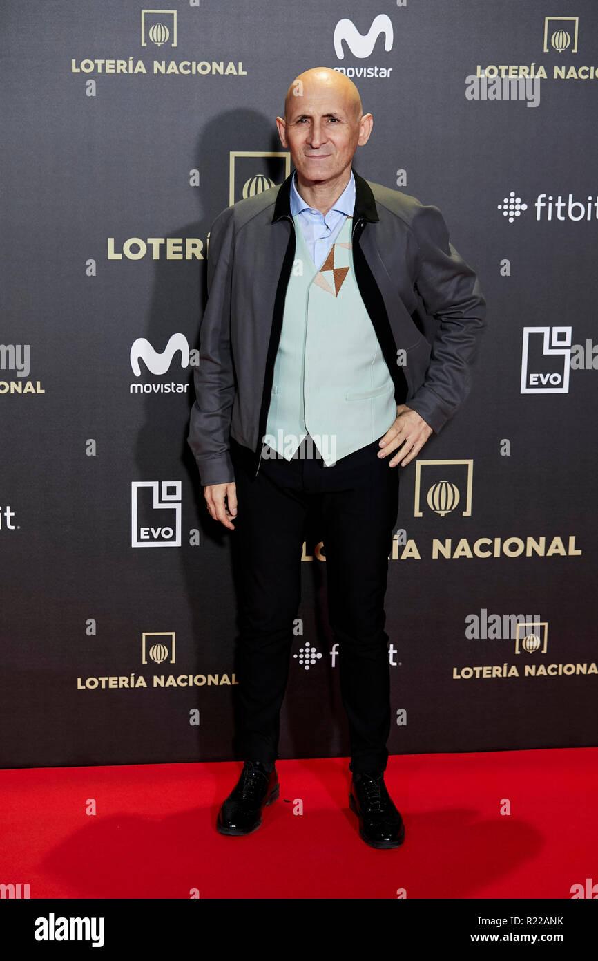 Modesto Lomba kümmert sich um fantastische Tiere: Die Verbrechen von Grindelwald Film Premiere während der Woche in Madrid Premiere Kinepolis in Pozuelo de Alarcon. Stockfoto