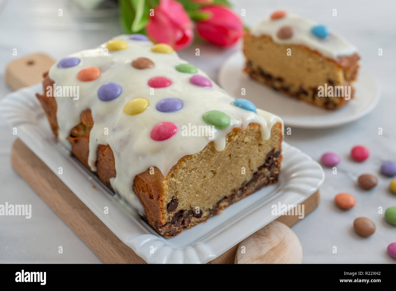 Smarties Kuchen Stockfoto Bild 225028862 Alamy