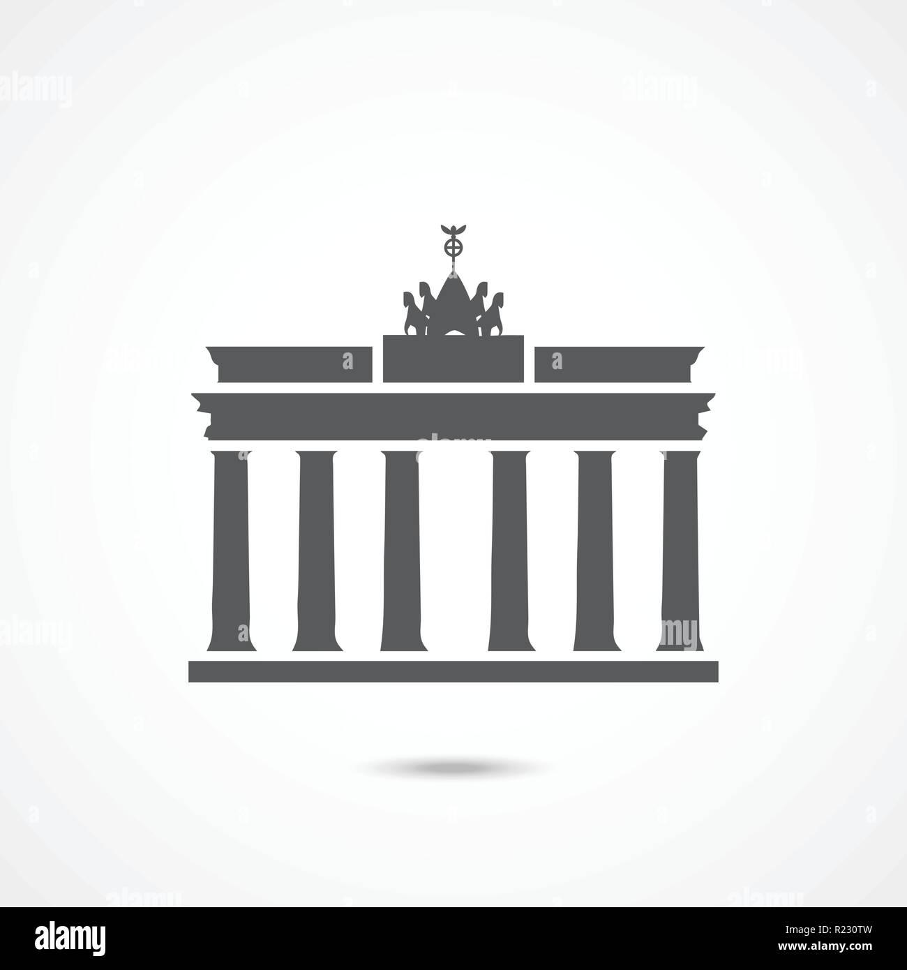 Brandenburger Tor Symbol Stock Vektorgrafik Alamy