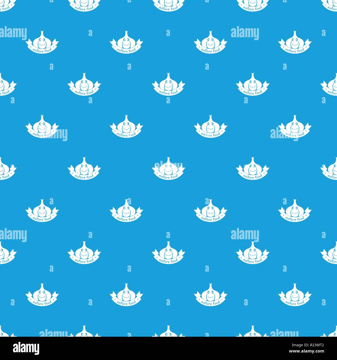 Knoblauch Muster nahtlose Vektor blau Stock Vektor
