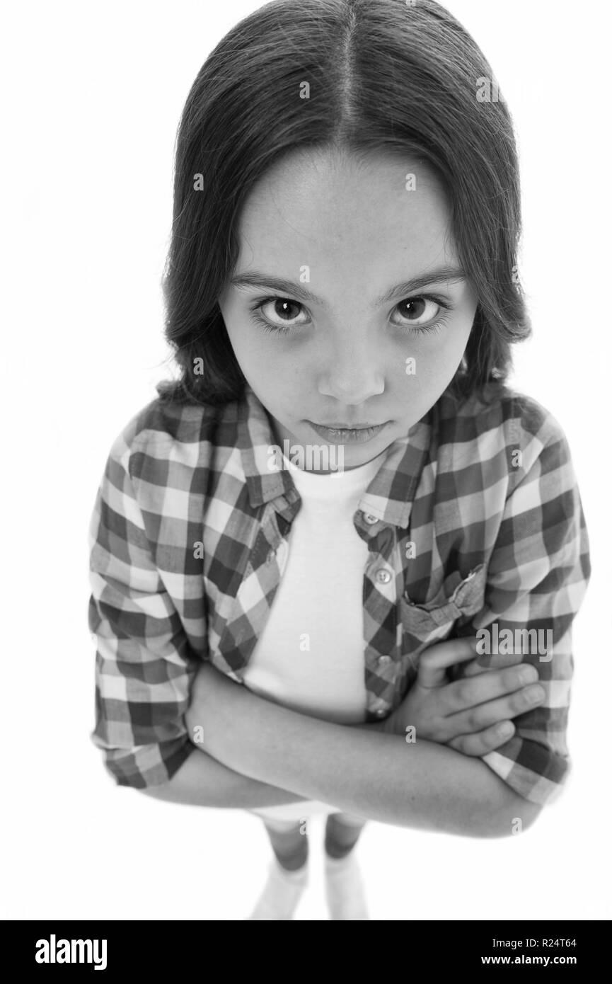 Mädchen sitzendes Gesicht Schwarzes Schwarzes, Geiles