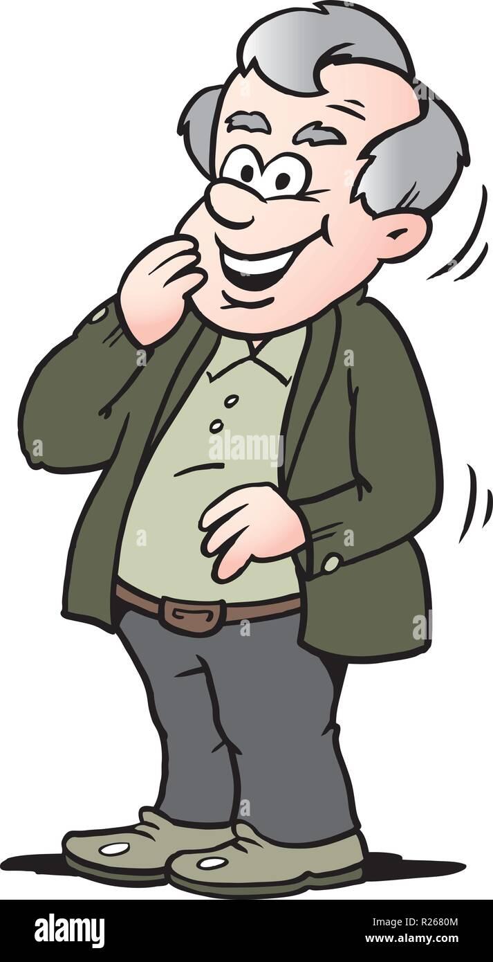 Alter mann cartoon