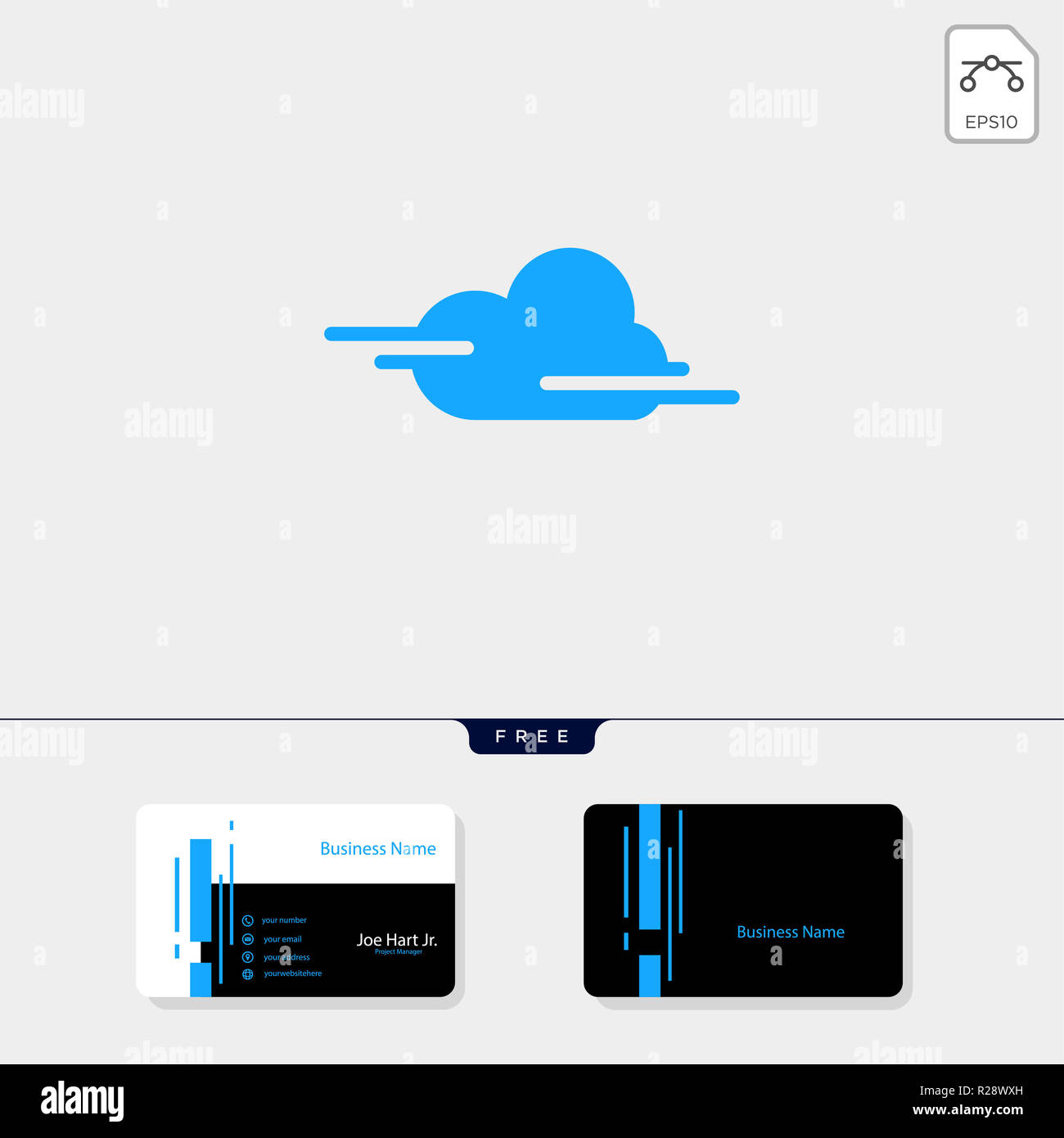 Cloud Kreative Logo Template Vector Illustration Erhalten