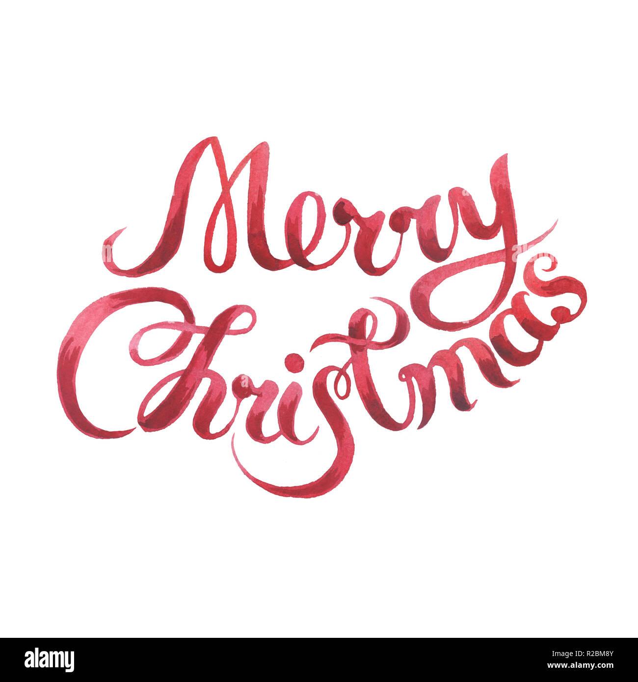 Frohe Weihnachten Schrift.Frohe Weihnachten Kalligraphie Schrift Zeichen Auf Weissem