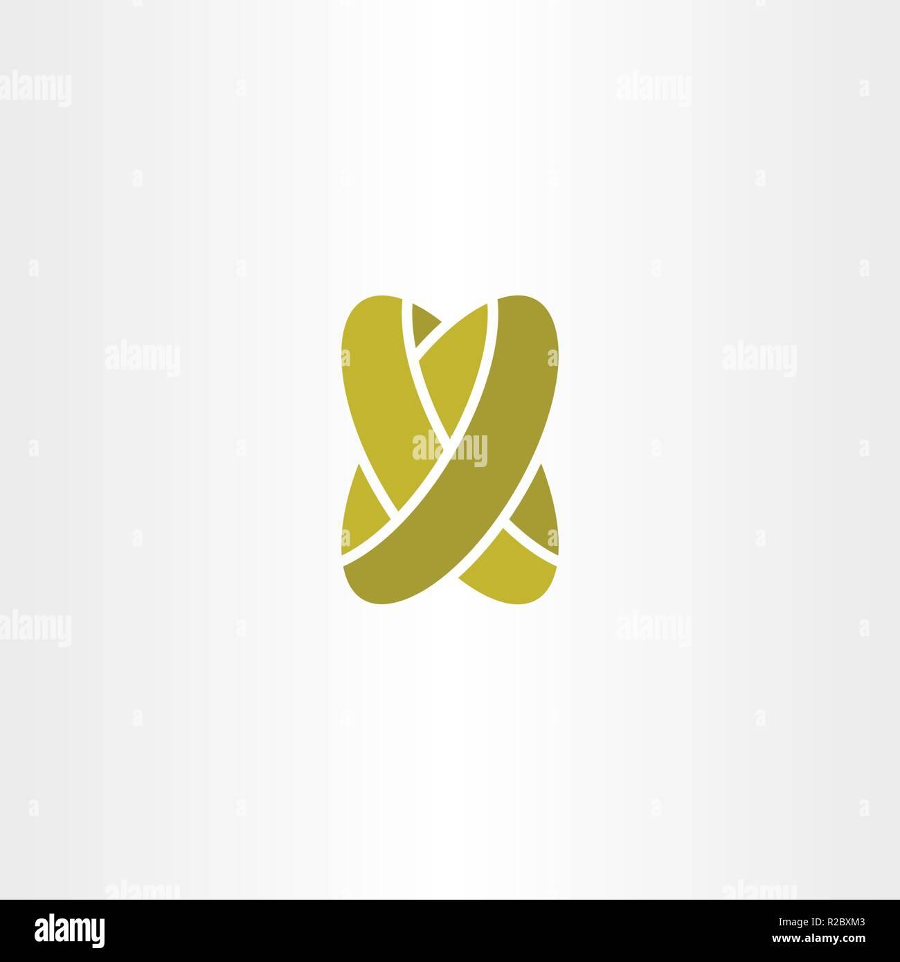 Goldene Hochzeit Ringe Schreiben X Vektor Logo Vektor