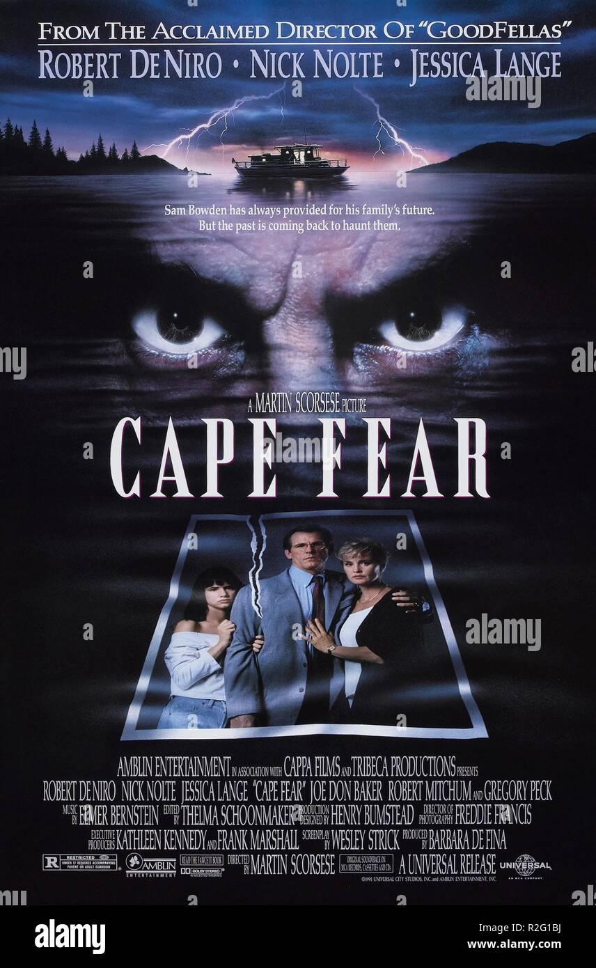 Cape Fear Jahr: 1991 USA Regie: Martin Scorsese Film Poster (USA) Stockbild