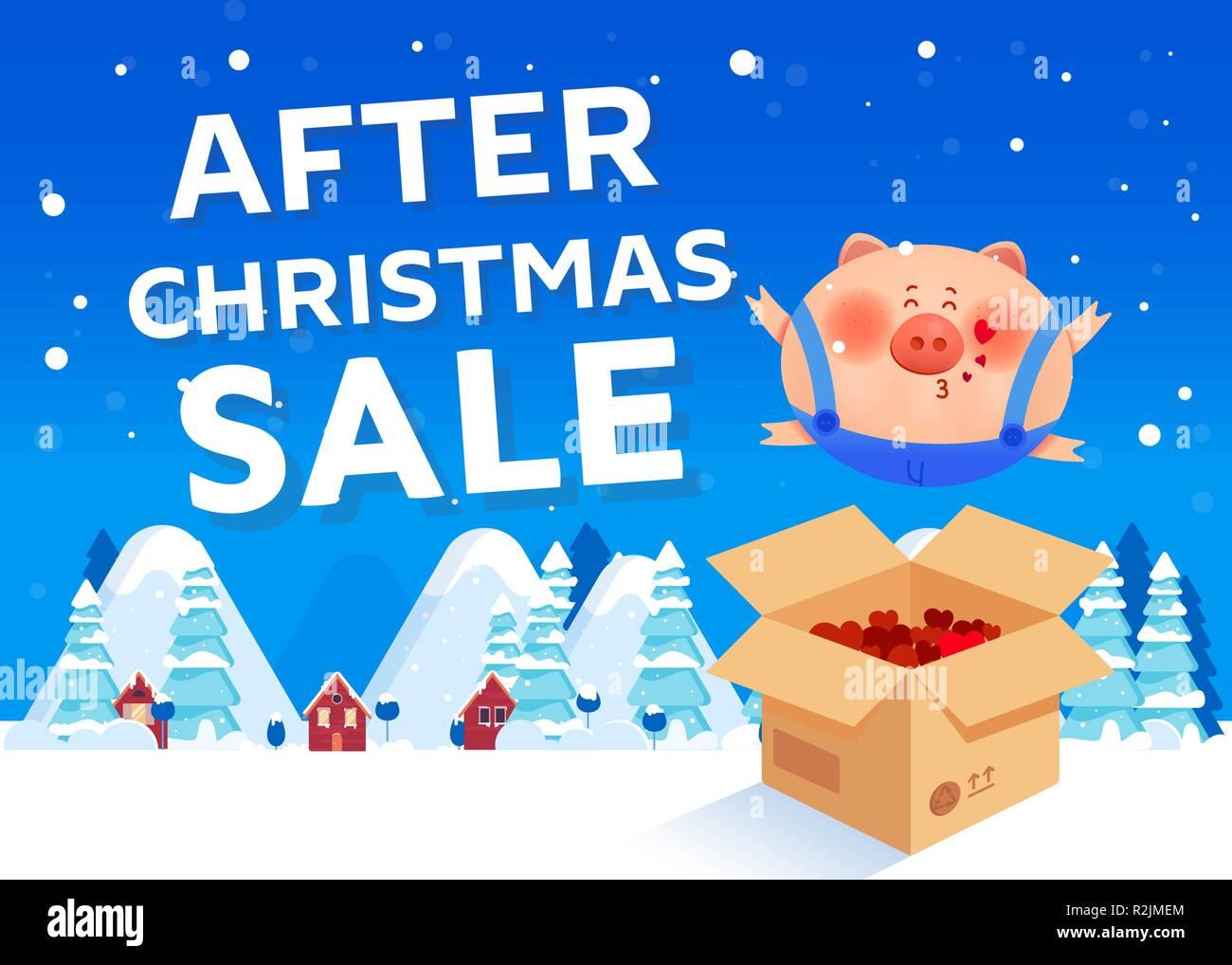 Bilder Nach Weihnachten.Nach Weihnachten Verkauf Mit Einem Fette Schwein Wer Gibt Einen Kuss