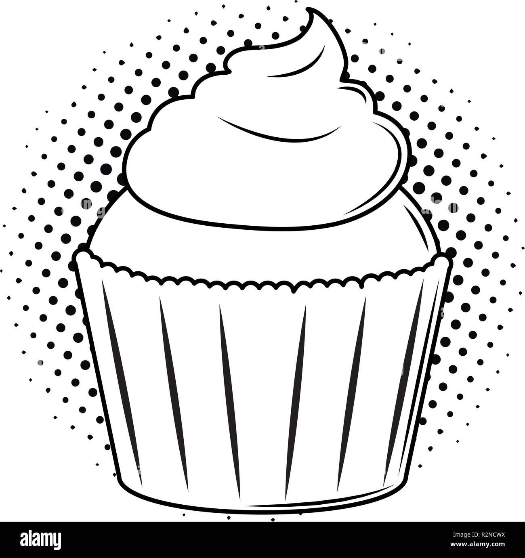 k stliche kuchen dessert pop art in schwarz und wei. Black Bedroom Furniture Sets. Home Design Ideas
