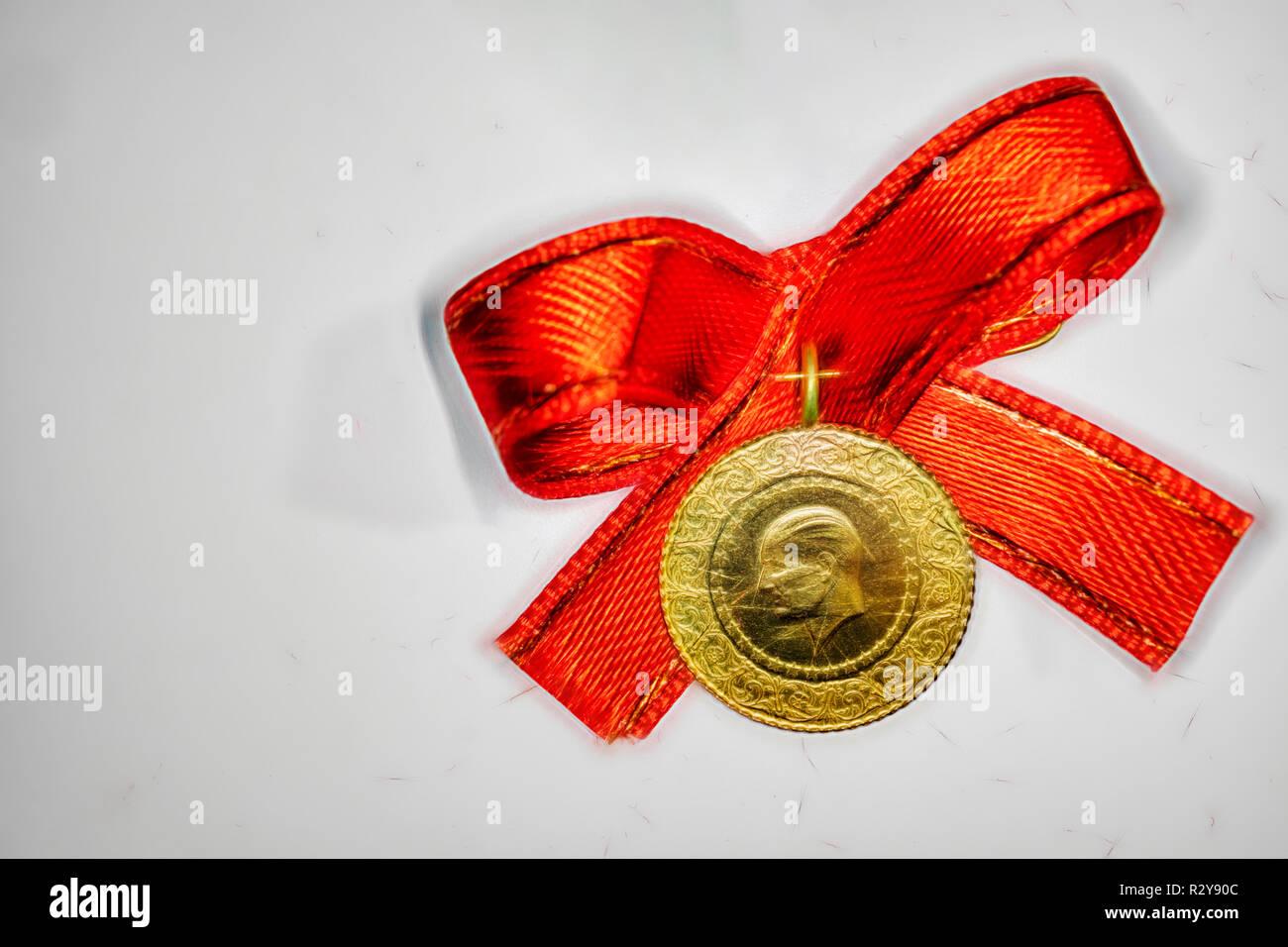 Ein Türkischer Tradition Quartal Gold Für Hochzeit Und
