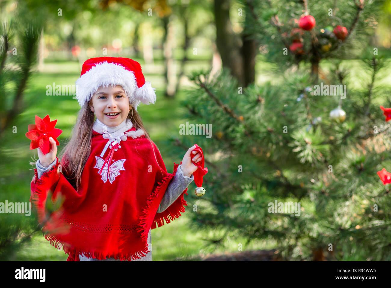 Tannenbaum Draußen Schmücken.Weihnachtsbaum Im Freien Stockfotos Weihnachtsbaum Im Freien