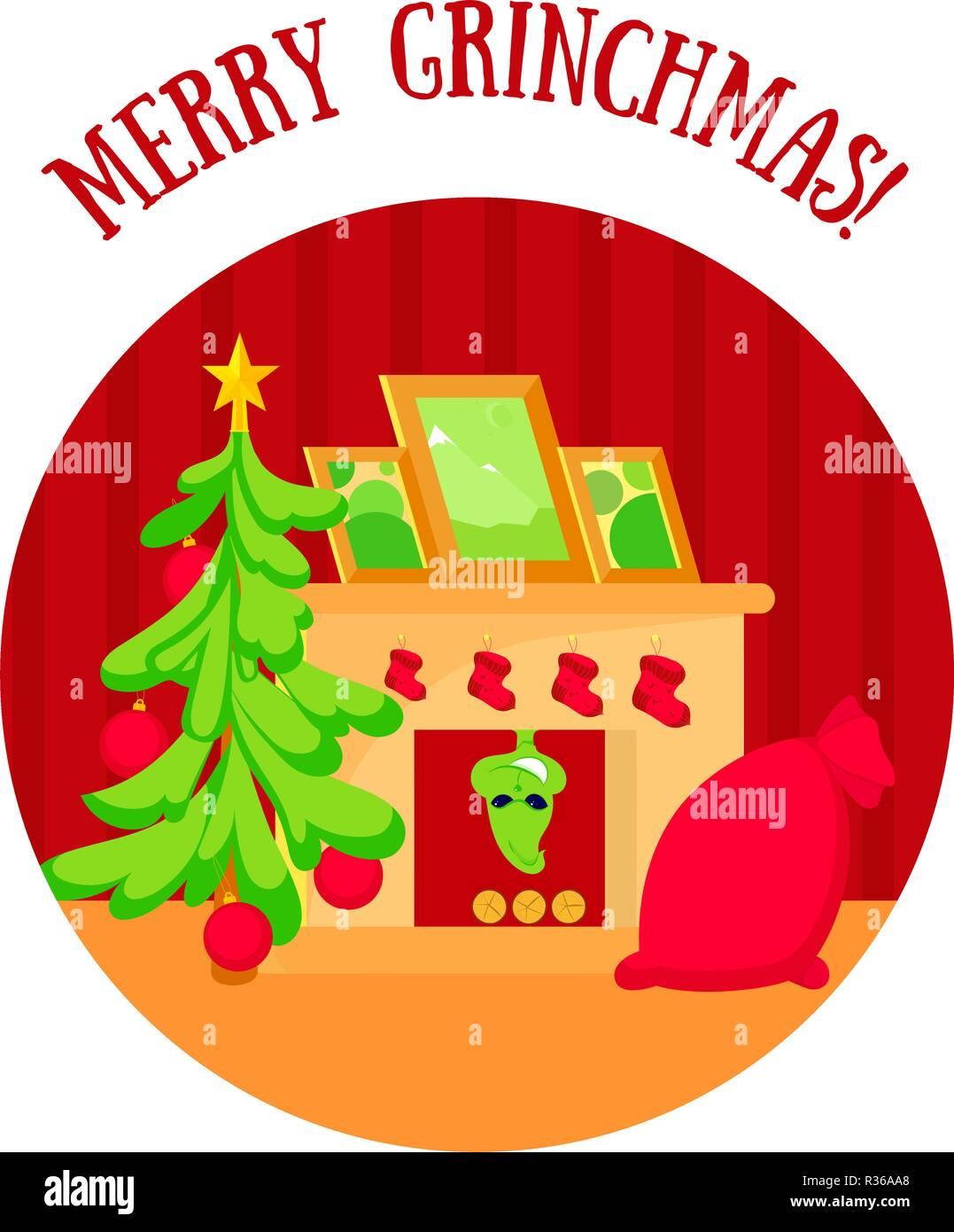 Wie Der Grinch Weihnachten Gestohlen Hat Stockfotos & Wie Der Grinch ...