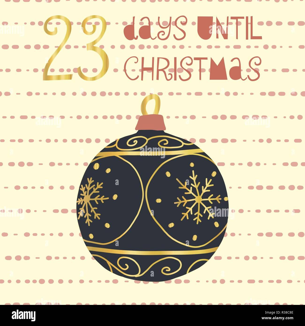 Tage Bis Weihnachten.23 Tage Bis Weihnachten Vector Illustration Christmas