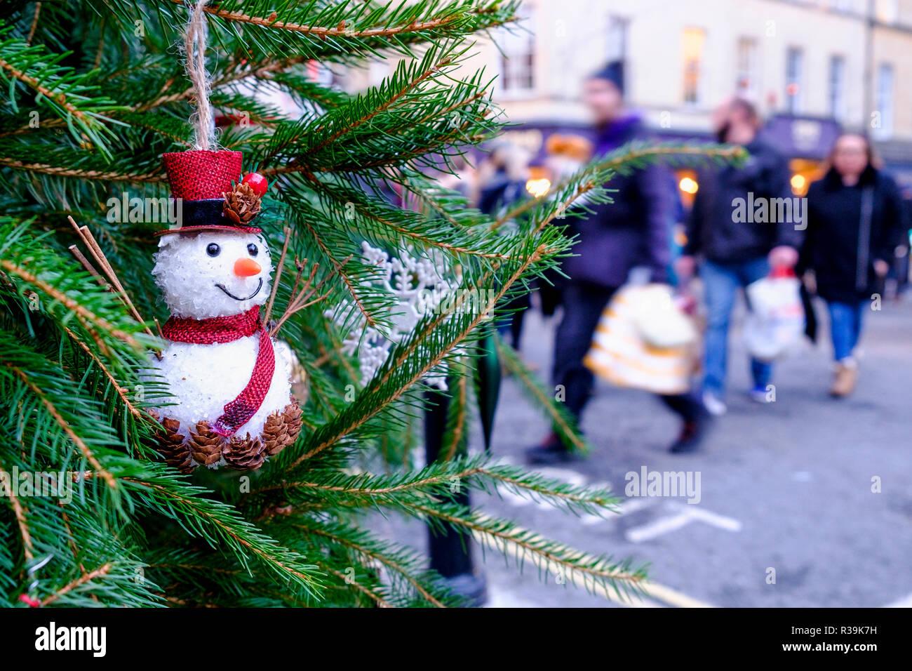 Bad Weihnachten Weihnachten Marktstand Chalets Stockfotos
