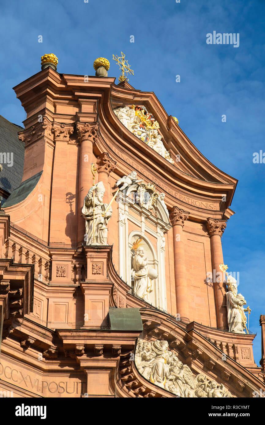 Neumünster Katholische Kirche, Würzburg, Bayern, Deutschland Stockbild