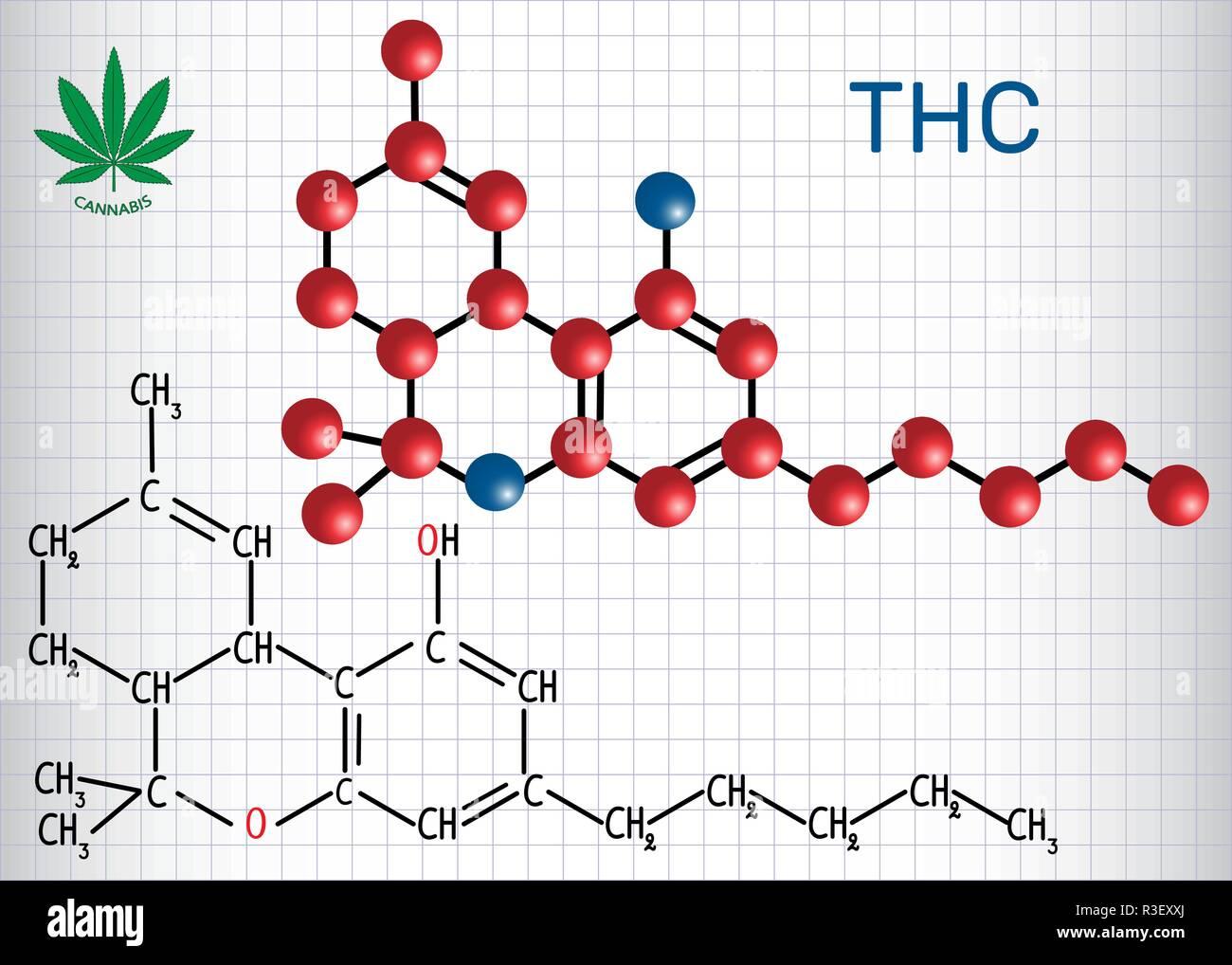 Tetrahydrocannabinol Thc Strukturelle Chemische Formel
