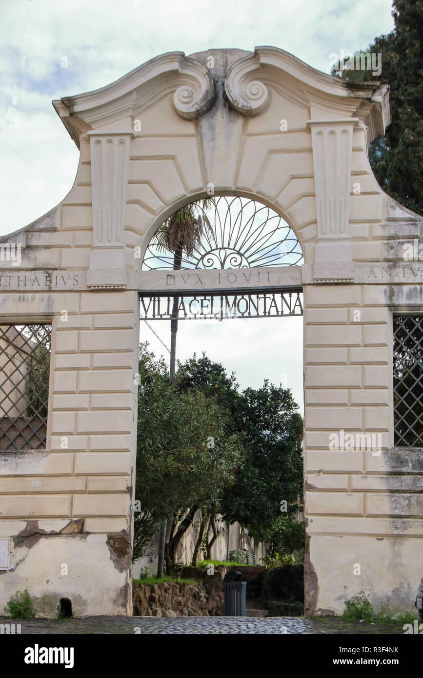 Eingang Der Villa Celimontana In Rom Einem Der Schönsten Roms Und