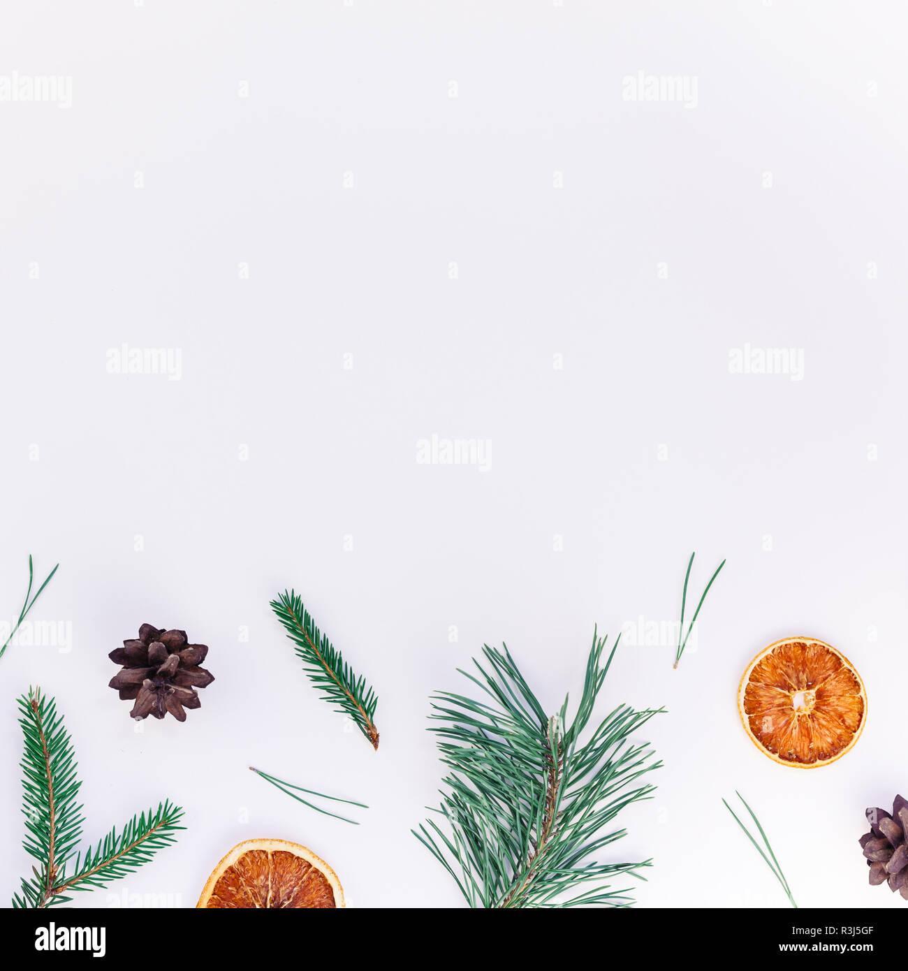 Tannenbaum Muster.Neues Jahr Weihnachten Muster Flache Ansicht Von Oben Weihnachten