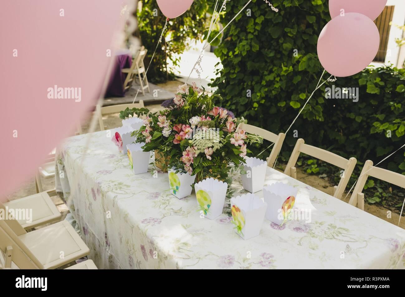 Bunte Luftballons Dekoration Einer Hochzeit Stockfoto Bild
