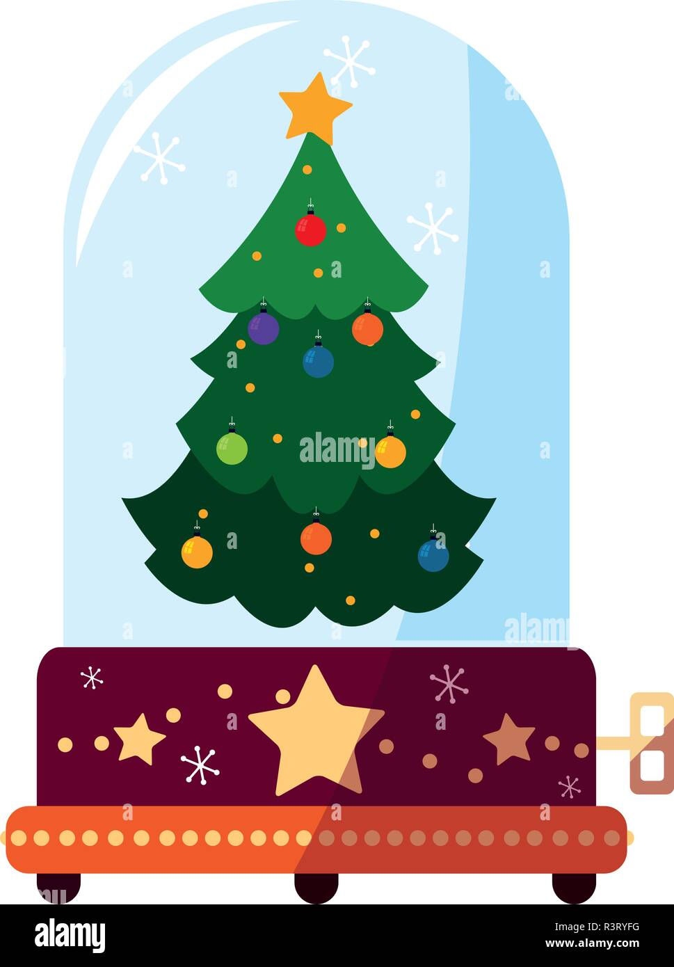 Symbol Weihnachtsbaum.Weihnachten Spieluhr Mit Weihnachtsbaum Symbol Auf Weißem