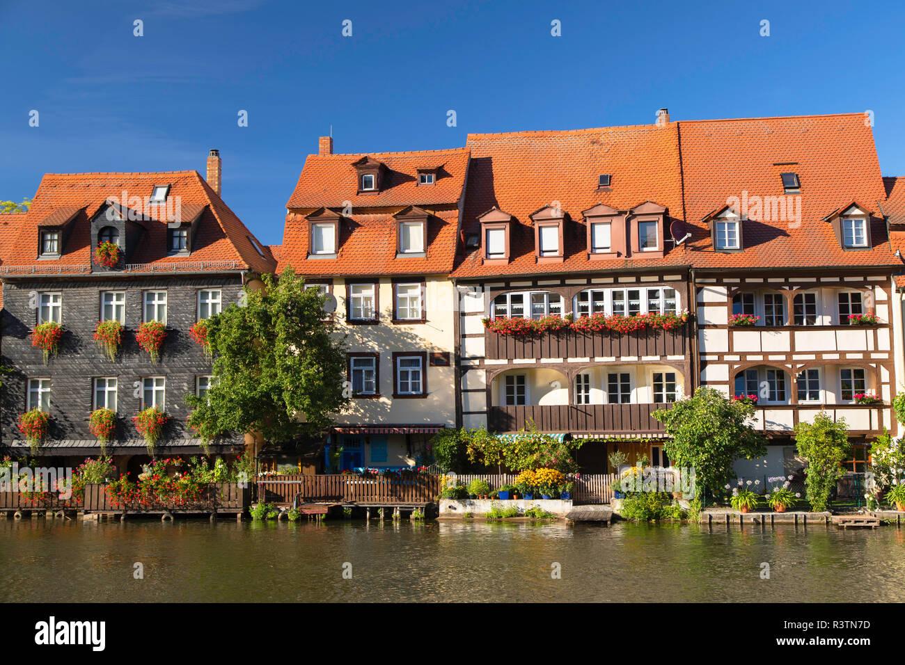 Häuser von Klein Venedig (Klein Venedig), Bamberg (Weltkulturerbe der Unesco), Bayern, Deutschland Stockbild