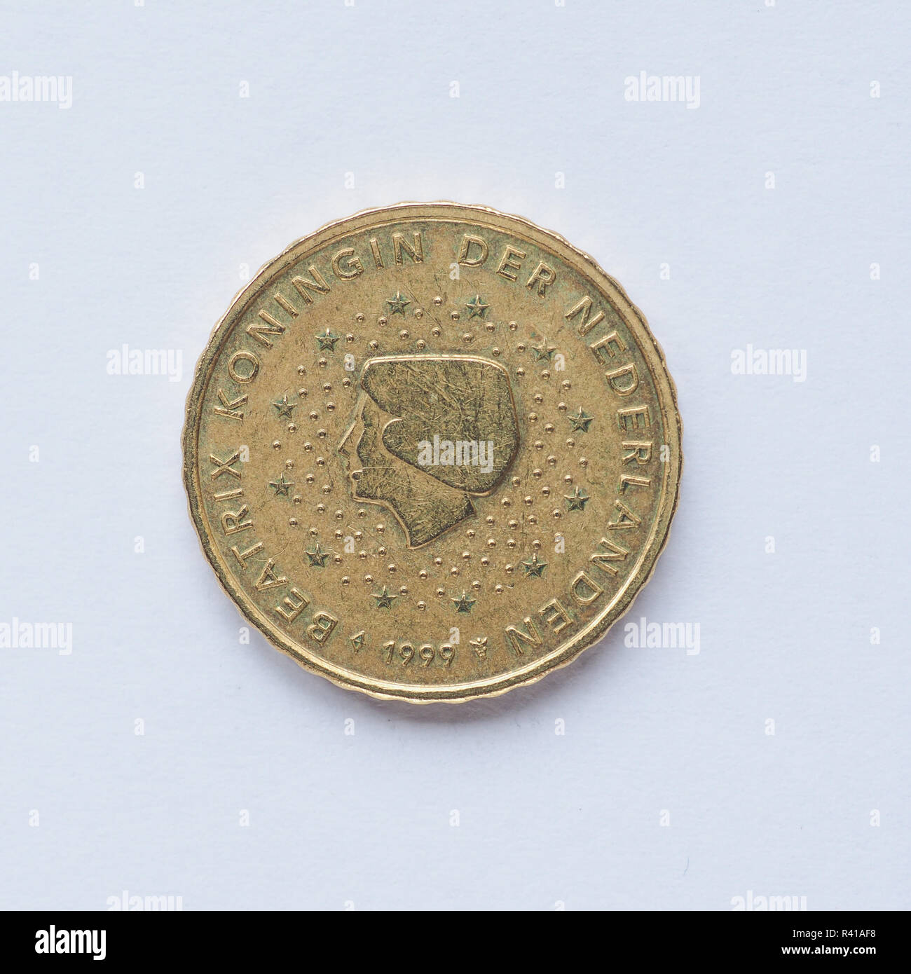 Coin 10 Cents Netherlands Stockfotos Coin 10 Cents Netherlands