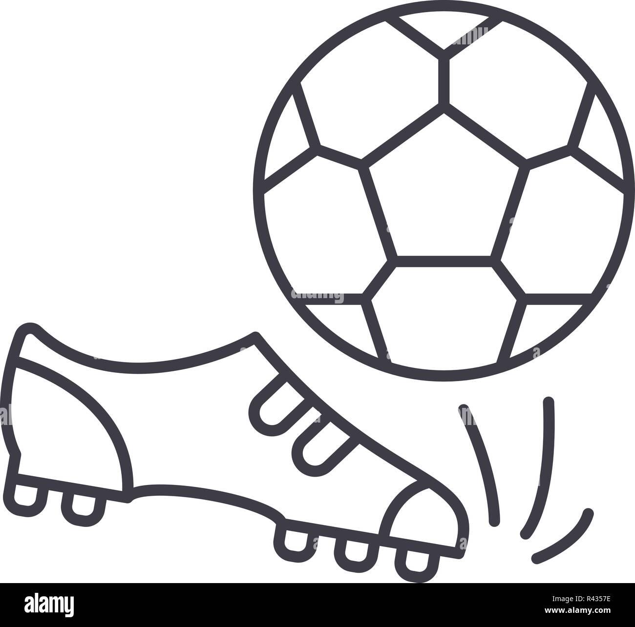 Fussball Symbol Leitung Konzept Fussball Vector Linear