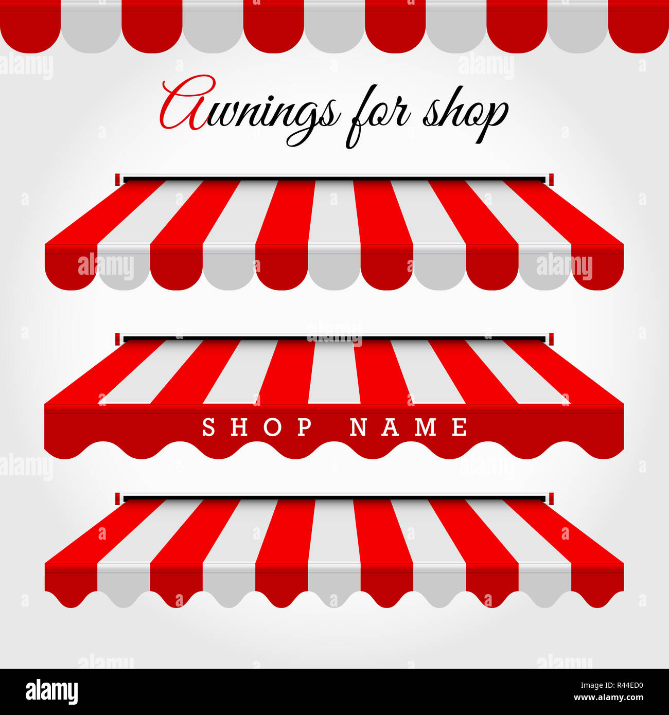Gut bekannt Kommerzielle Markise Serie. Shop, Café oder Restaurant Symbol. Rot JJ69