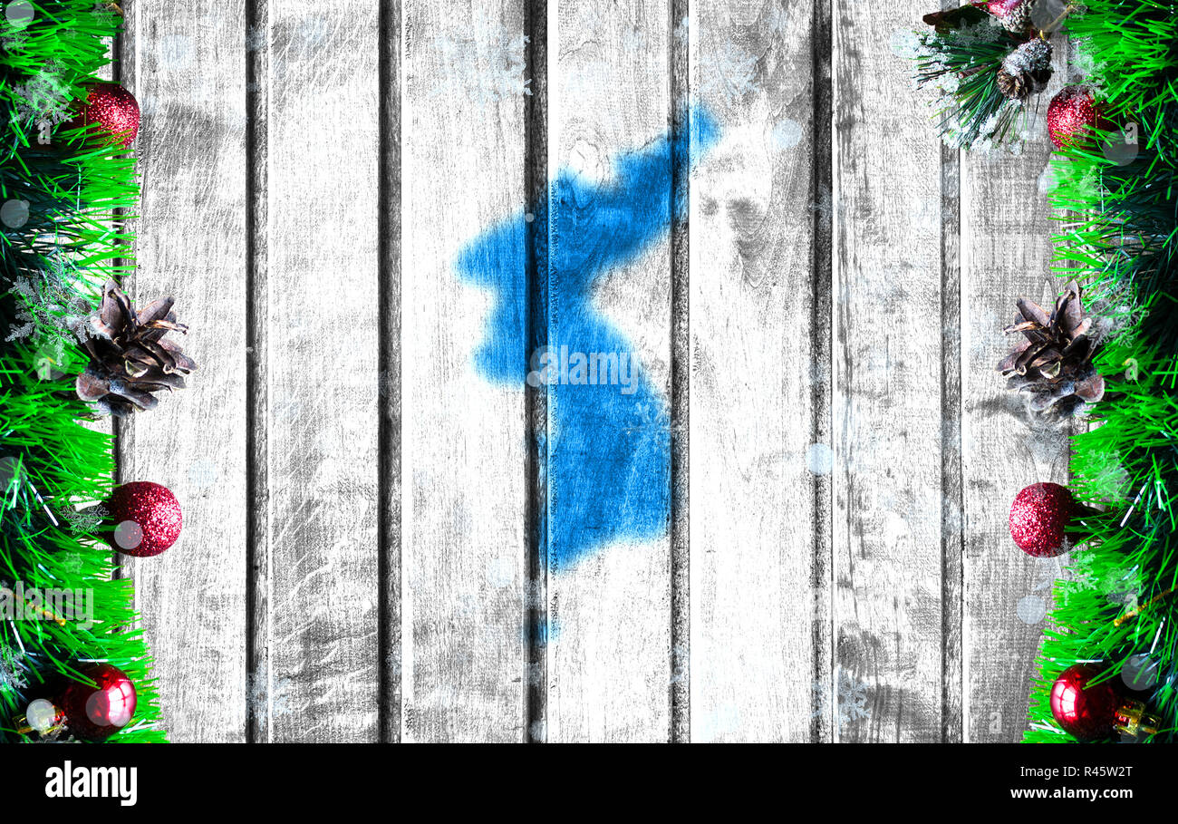 Koreanisch Frohe Weihnachten.Background Traditional Korean Holiday Stockfotos