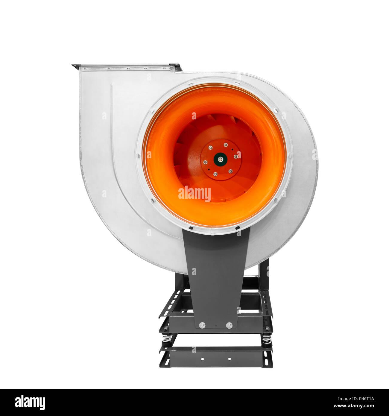 Air Turbine Lüfter für Lüftung und Klimaanlage auf weißem Hintergrund Stockbild